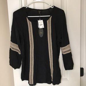 New! Black Long Sleeve Blouse